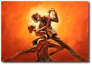 tablou tango auriu