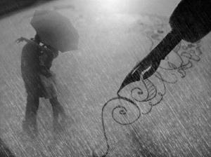 cuplu in ploaie